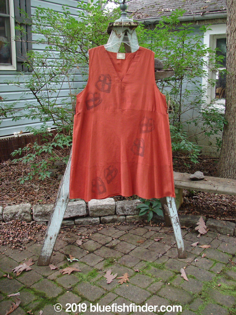 Vintage Blue Fish Clothing 2000 Shaunting Silk Layering Jumper Celtic Knot Red Clay Size 2- Bluefishfinder.com