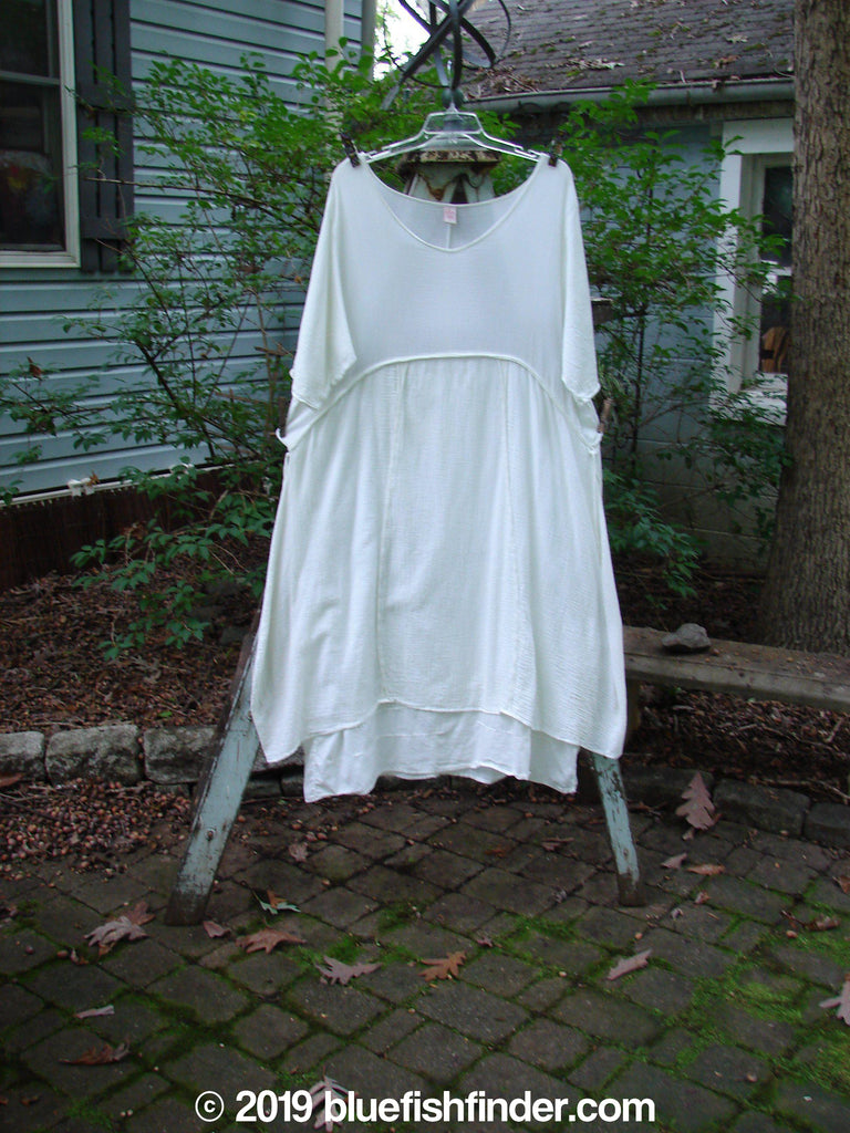 Vintage Blue Fish Clothing Barclay Gauze Batiste 2 Tier Empire Dress White Size 1- Bluefishfinder.com