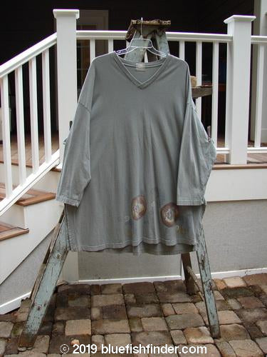 Vintage Blue Fish Clothing 1999 Square Box Top Flower Circle Olive Grey Size 2- Bluefishfinder.com