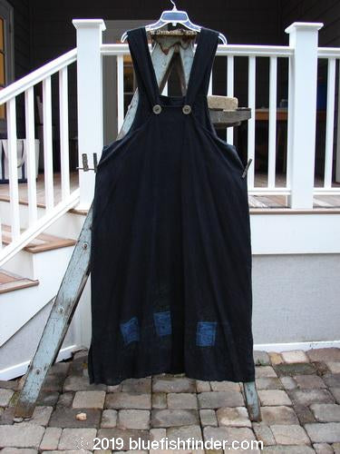 Vintage Blue Fish Clothing 1999 Hemp Suspender Overall Fan Black Size 1- Bluefishfinder.com