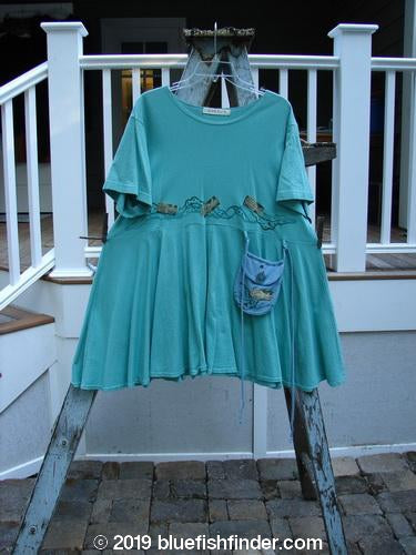 Vintage Blue Fish Clothing 1997 Ocean Pearl Dress Tiny Fish Salamander Size 1- Bluefishfinder.com