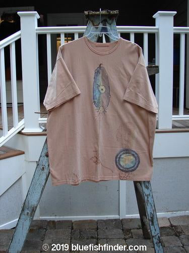 Vintage Blue Fish Clothing 1998 Short Sleeved Tee Tiny Sun Moon Arausio Size 2- Bluefishfinder.com