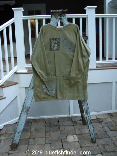 Vintage Blue Fish Clothing 1996 Denim Art Top Primitive Vine Size 2- Bluefishfinder.com