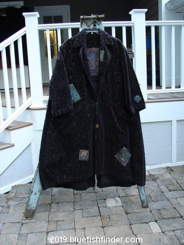 Vintage Blue Fish Clothing 1998 Patched Tapestry Coat Fern Vine Mortar OSFA- Bluefishfinder.com