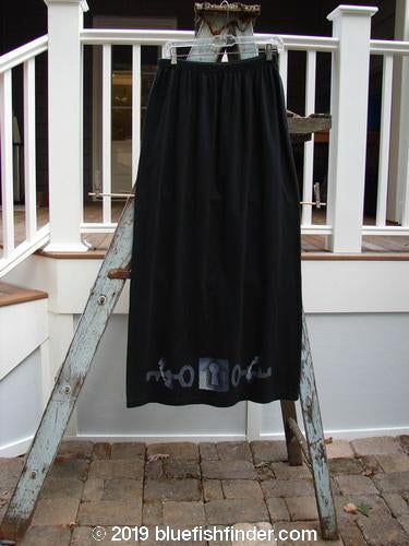 Vintage Blue Fish Clothing 1996 Simple Skirt Primitive Black Size 2- Bluefishfinder.com