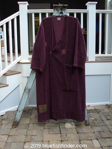 Vintage Blue Fish Clothing 2000 Patched Side Wrap Robe Patched Murple Size 2- Bluefishfinder.com