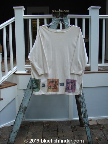 Vintage Blue Fish Clothing 1993 Long Sleeved Vented Tunic Triple Tea Natural OSFA- Bluefishfinder.com