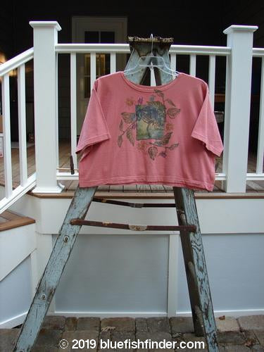Vintage Blue Fish Clothing 1994 Short Sleeved Boxy Top Crazy Garden Coral OSFA- Bluefishfinder.com