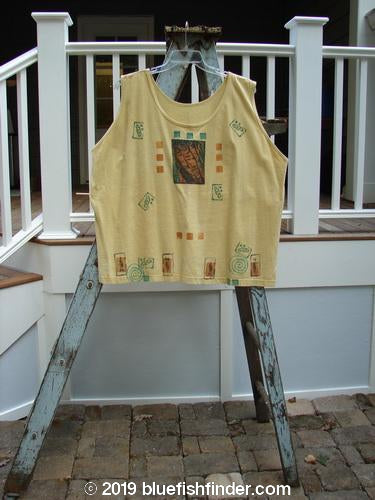 Vintage Blue Fish Clothing 1992 Oversized Tank Veggies Dusk OSFA- Bluefishfinder.com