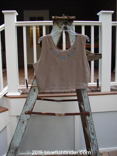 Vintage Blue Fish Clothing 1999 Crop Tank Top Butterfly Riverbed Size 2- Bluefishfinder.com