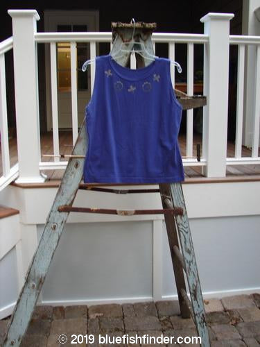 Vintage Blue Fish Clothing 1996 Sample Cotton Lycra Tank Top Necklace Niagara Size 2- Bluefishfinder.com