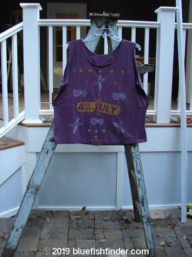 Vintage Blue Fish Clothing 1989 Promo Oversized Tank July 4th Plum Berry OSFA- Bluefishfinder.com