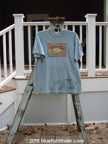 Vintage Blue Fish Clothing 1999 Short Sleeved Tee Single Fishy Water Size 2- Bluefishfinder.com
