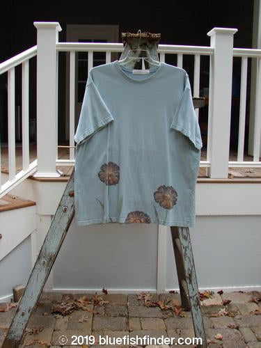 Vintage Blue Fish Clothing 1998 Botanicals Short Sleeved Tee Grass Florals Birdsong Size 2- Bluefishfinder.com