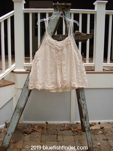 Vintage Blue Fish Clothing Magnolia Pearl Muslin Pintuck A Line Tank Natural OS- Bluefishfinder.com