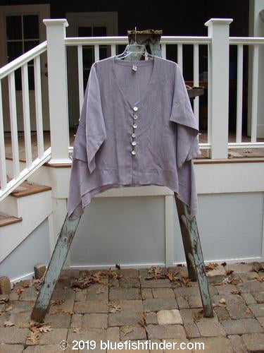 Vintage Blue Fish Clothing Barclay Shell Button Dip Side Cardigan Unpainted Lavender Size 1- Bluefishfinder.com