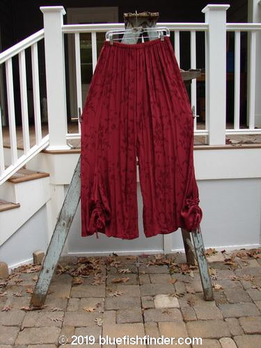 Vintage Blue Fish Clothing Barclay Brocade Bell Draw Pant Red Wine Size 1- Bluefishfinder.com
