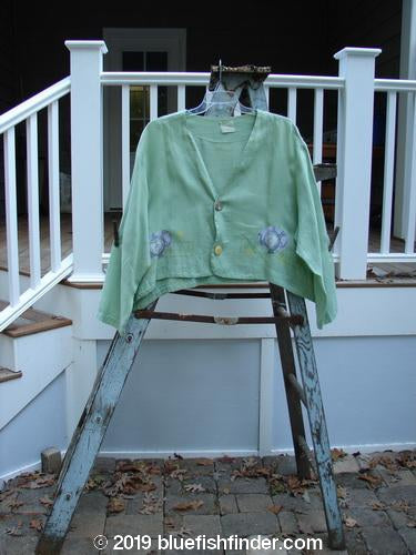 Vintage Blue Fish Clothing 1999 Weathervane Jacket Tea Heart Spearmint Size 2- Bluefishfinder.com