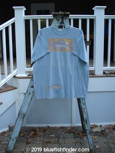 Vintage Blue Fish Clothing 1999 Short Sleeved Tee Trout Water Size 2- Bluefishfinder.com