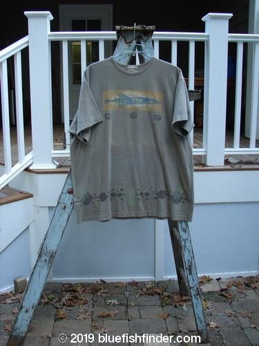 Vintage Blue Fish Clothing 1999 Short Sleeved Tee Pike Riverbed Size 2- Bluefishfinder.com
