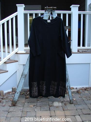 Vintage Blue Fish Clothing 2000 Ringlet Dress Tiny Floral Black Size 1- Bluefishfinder.com