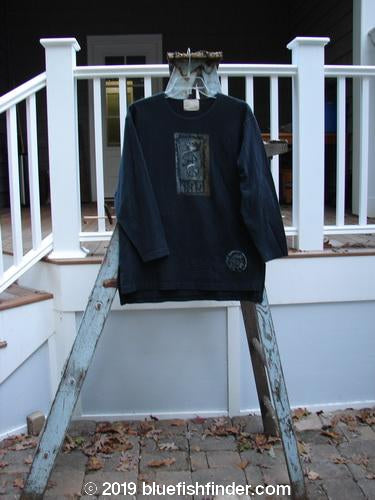 Vintage Blue Fish Clothing 1999 Artist Choice Long Sleeved Vented Tee Primitive Black Size 0- Bluefishfinder.com