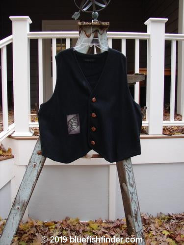 Vintage Blue Fish Clothing 1998 Oak Leaf Vest Black Size 2- Bluefishfinder.com