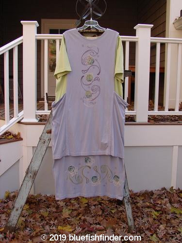 Vintage Blue Fish Clothing 1997 Tunic Dress Curly Garden Dawn Mellon Size 1- Bluefishfinder.com