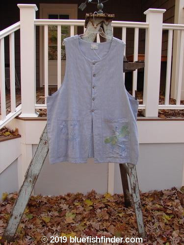 Vintage Blue Fish Clothing 1999 Two Pocket Vest Dragonfly Water Size 2- Bluefishfinder.com