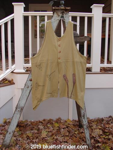 Vintage Blue Fish Clothing 1998 Botanicals Aster Vest Long Stem Seed Size 2- Bluefishfinder.com
