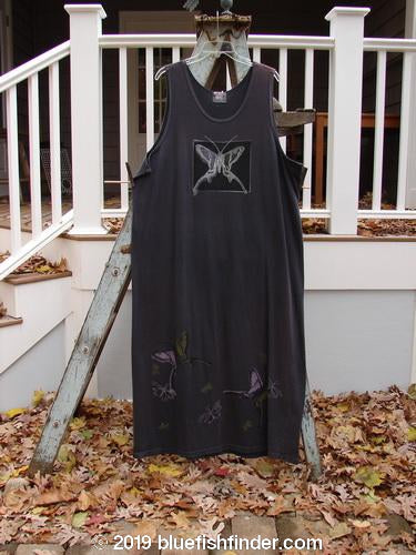 Vintage Blue Fish Clothing 1999 River Journey Dress Single Butterfly Raven Size 2- Bluefishfinder.com