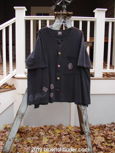 Vintage Blue Fish Clothing 1999 Camp Shirt Ladybug Raven Size 2- Bluefishfinder.com
