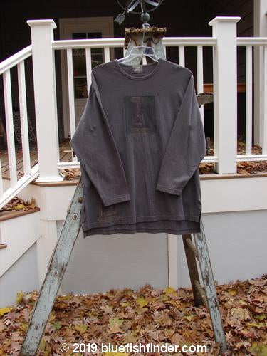 Vintage Blue Fish Clothing 1999 Long Sleeved Vented Tee Wheat Wind Olive Grey Size 2- Bluefishfinder.com