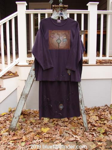 Vintage Blue Fish Clothing 1999 Long Sleeved Tee Straight Skirt Duo Ornaments Nightshade Size 2- Bluefishfinder.com