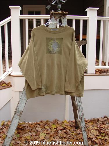 Vintage Blue Fish Clothing 1998 Long Sleeved Tee Double Bulb Glazed Tile Size 2- Bluefishfinder.com