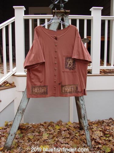 Vintage Blue Fish Clothing 1994 Camp Shirt Tiny Ant Gourd Size 2- Bluefishfinder.com
