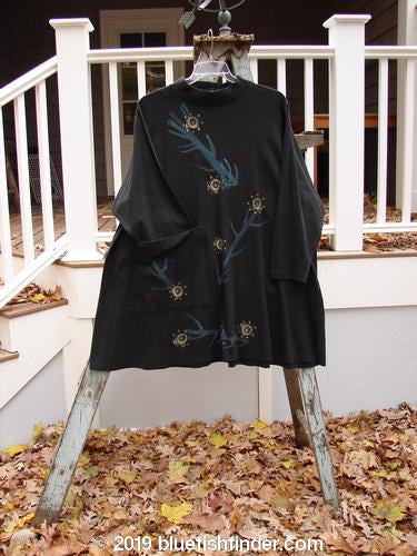 Vintage Blue Fish Clothing 1996 Ramble Dress Primitive Abstract Black Size 2- Bluefishfinder.com