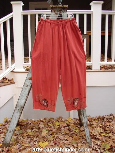 Vintage Blue Fish Clothing 1995 Vagabond Pant Leaf Swirl Red Glaze Size 2- Bluefishfinder.com