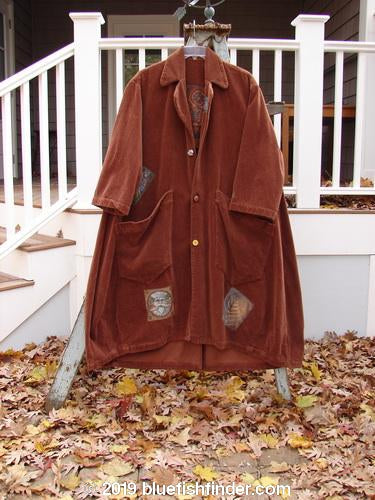 Vintage Blue Fish Clothing 1998 Patched Tapestry Coat Tiny Swirl Rockwood OSFA- Bluefishfinder.com