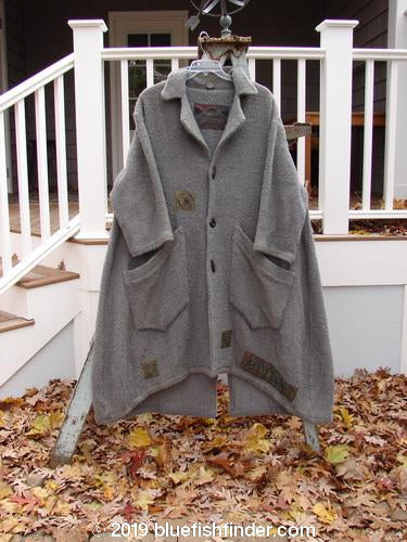 Vintage Blue Fish Clothing 2000 Patched Wool Nora Coat Cloud Grey Size 1- Bluefishfinder.com