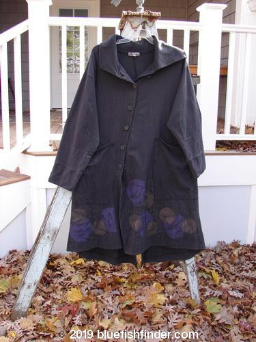 Vintage Blue Fish Clothing Barclay Cotton Lycra Rib Collar Coat Celestial Black Size 1- Bluefishfinder.com