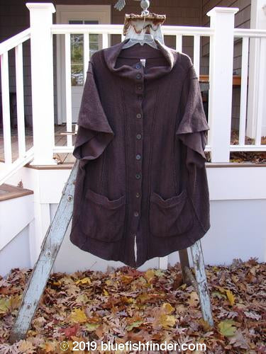 Vintage Blue Fish Clothing Barclay Celtic Moss Wide Sleeve Mock Turtleneck Jacket Aubergine Size 2- Bluefishfinder.com