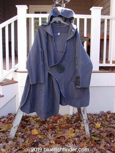 Vintage Blue Fish Clothing Barclay Patched Crepe Tidal Jacket Mushroom Size 1- Bluefishfinder.com