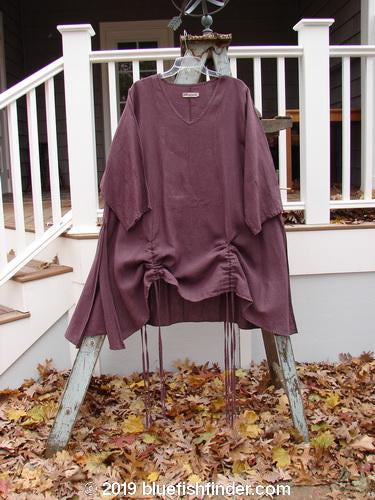 Vintage Blue Fish Clothing Barclay Venetian Tunic Unpainted Red Plum Size 2- Bluefishfinder.com