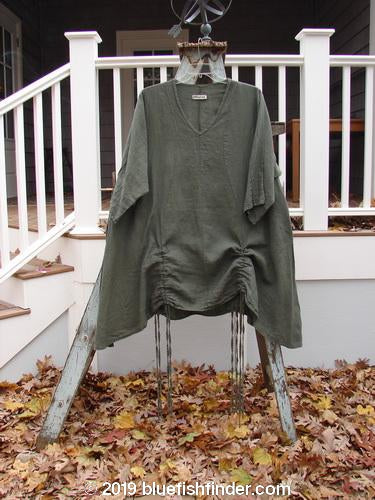 Vintage Blue Fish Clothing Barclay Venetian Tunic Unpainted Army Size 2- Bluefishfinder.com