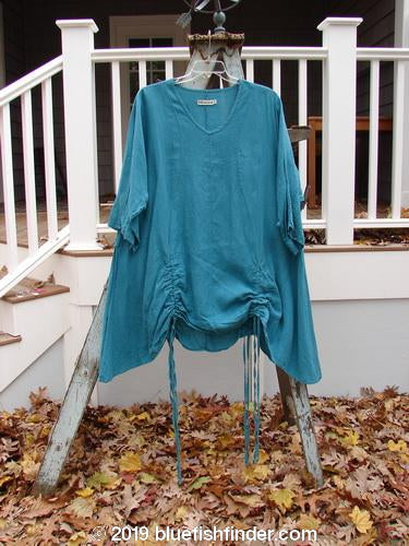 Vintage Blue Fish Clothing Barclay Venetian Tunic Unpainted Teal Size 2- Bluefishfinder.com