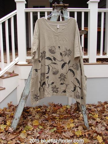 Vintage Blue Fish Clothing Barclay Heavy Linen Urchin Side Pocket Tunic Sunflower Wheat Size 2- Bluefishfinder.com