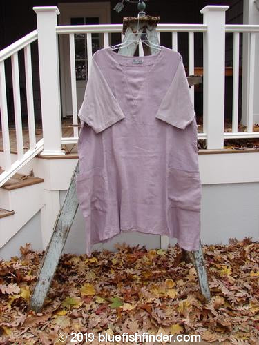 Vintage Blue Fish Clothing Barclay Linen Cotton Sleeve Triangle Dress Unpainted Lavender Size 2- Bluefishfinder.com