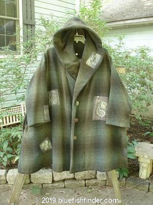 Vintage Blue Fish Clothing 1995 Autumn Jacket Green Plaid OSFA- Bluefishfinder.com