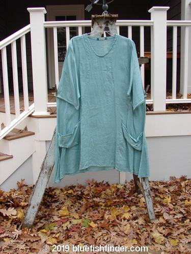 Vintage Blue Fish Clothing Barclay Linen Side Pocket Tab Tunic Unpainted Mint Size 2- Bluefishfinder.com